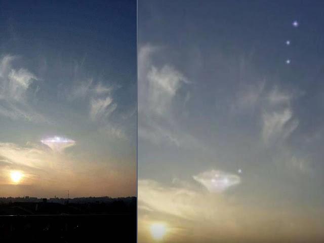 Vânătorii de Ozn-uri cred că in imagine este de fapt un obiect zburator neidentificat care zboară pe cer deasupra Italiei