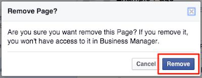 كيفية إزالة صفحة من الفيسبوك مدير الأعمال Facebook Business Manager
