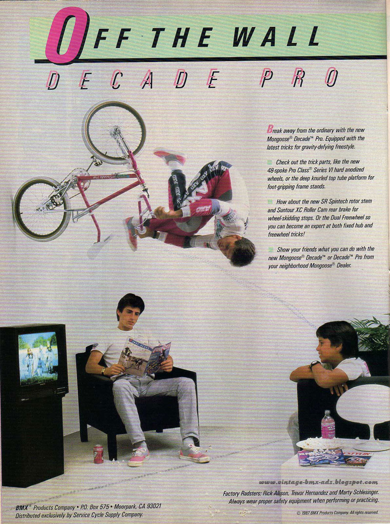 Vintage BMX Ads: OFF THE WALL - DECADE PRO