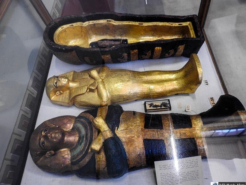 Sarcófagos de Tutancâmon do Museu do Cairo, Egito