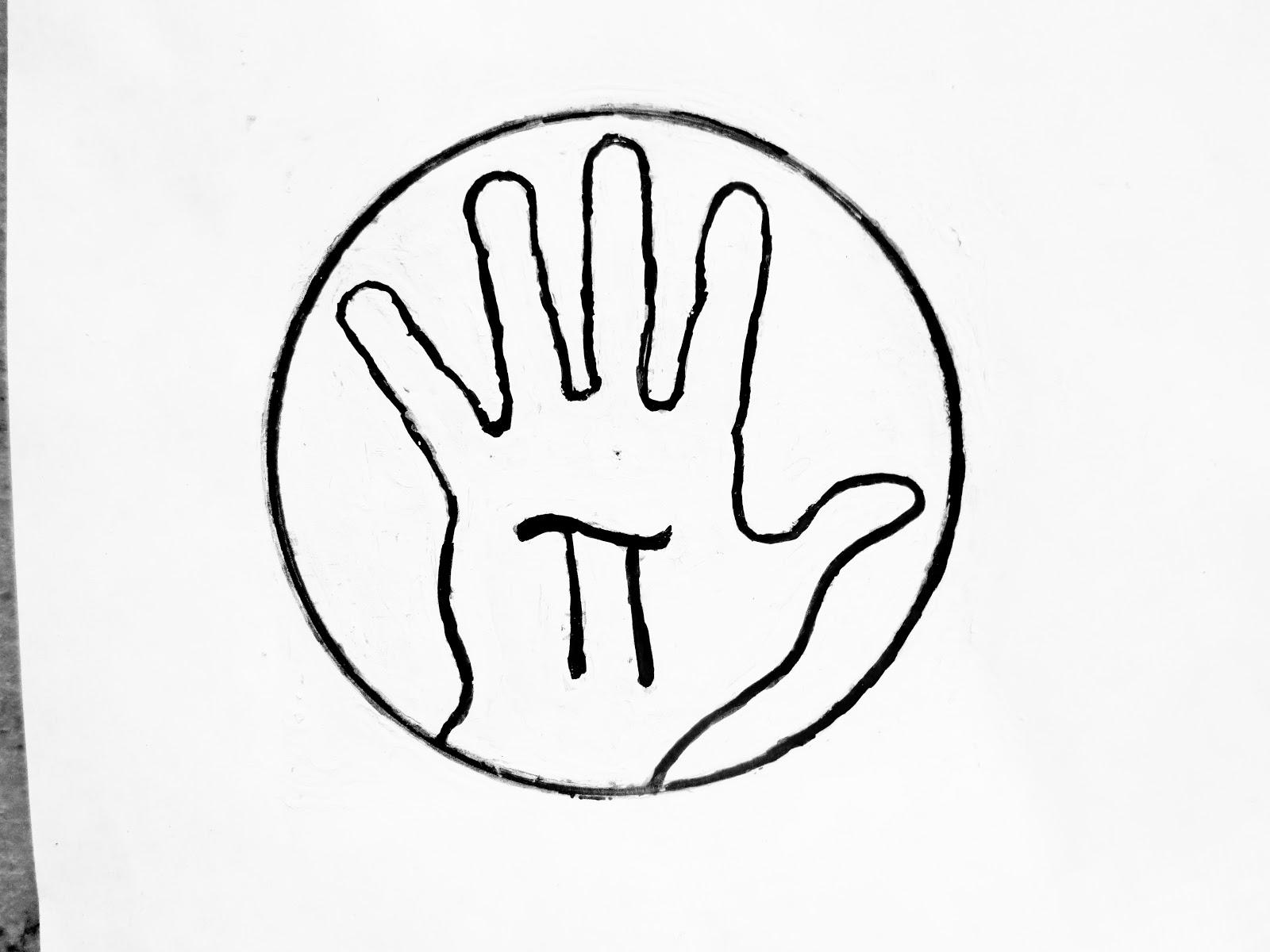 Hand Pi Day