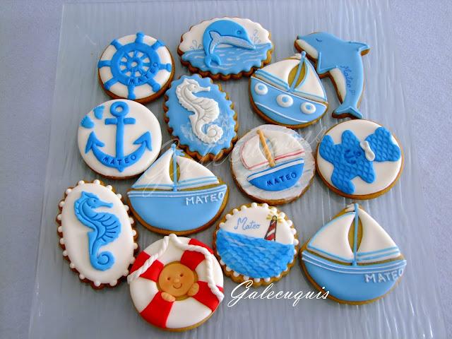 Galletas decoradas marineras