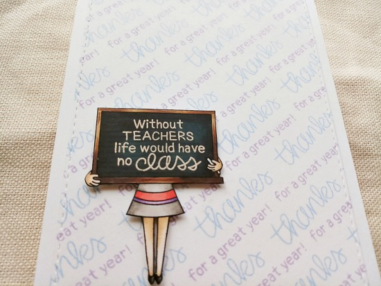 Stamped Background Card by September Guest Designer Sindhu Prajay | Classy Teachers Stamp Set by Newton's Nook Designs #newtonsnook #handmade