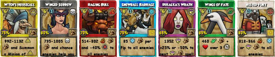 Wizard101 Polaris Level 108 Spells