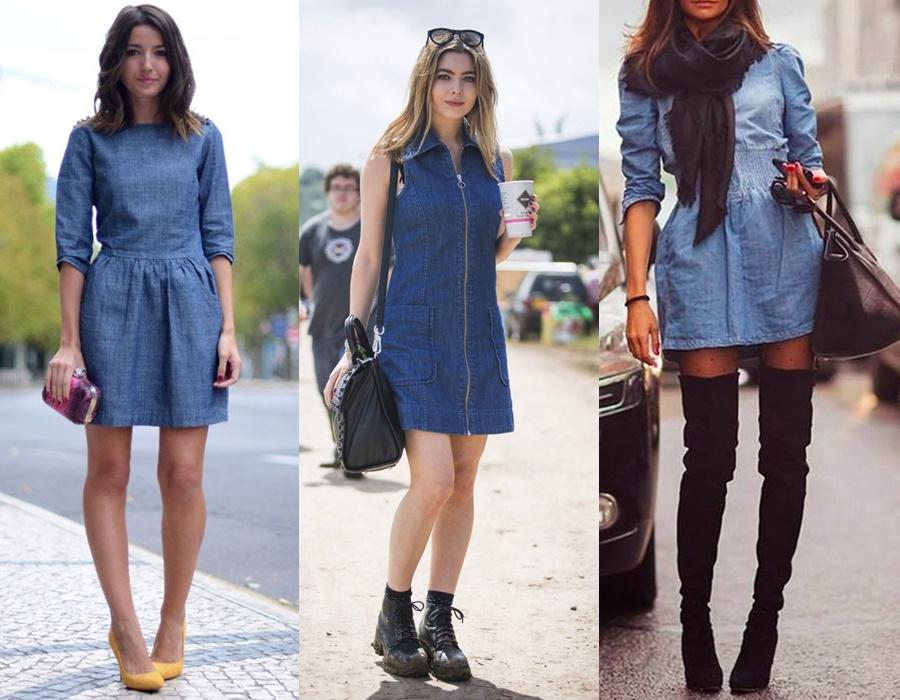 Vestidos jeans como usar