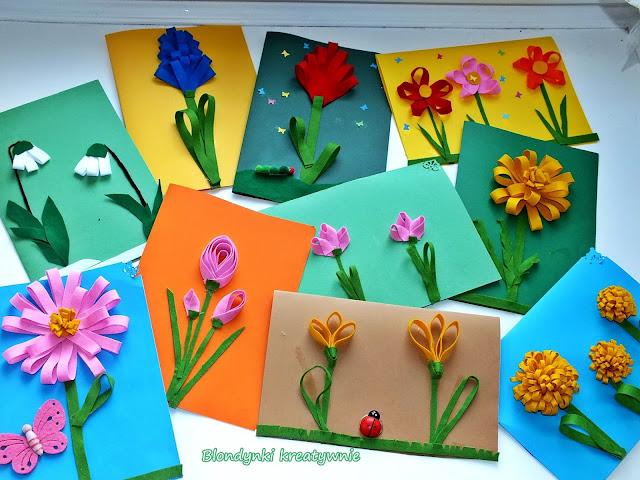 Kwiaty 3D z wstążki.