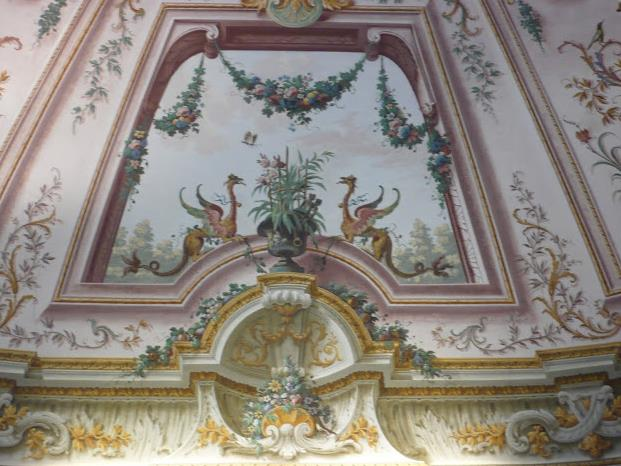 affreschi nella Reggia di Caserta