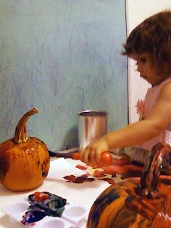 Toddler Halloween Pumpkin Painting Activity