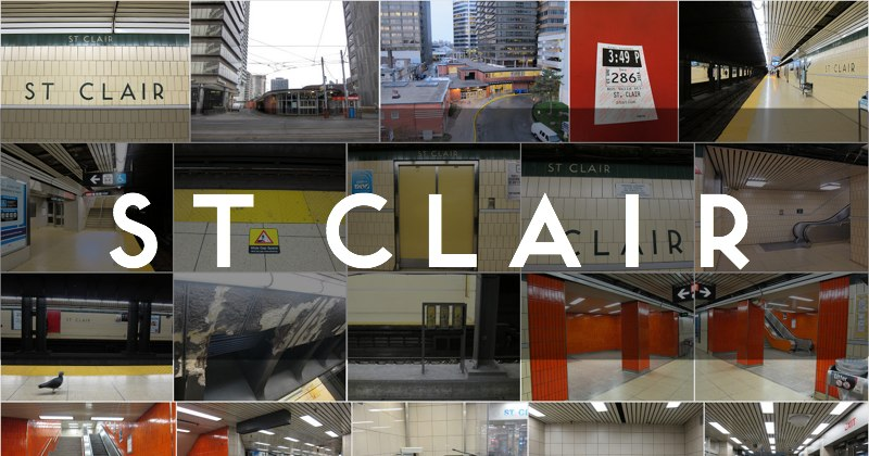 Photo gallery of the TTC's St Clair subway station
