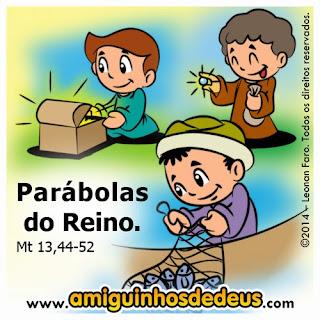 Resultado de imagem para EVANGELHO (Mt 13,44-52) para crianças