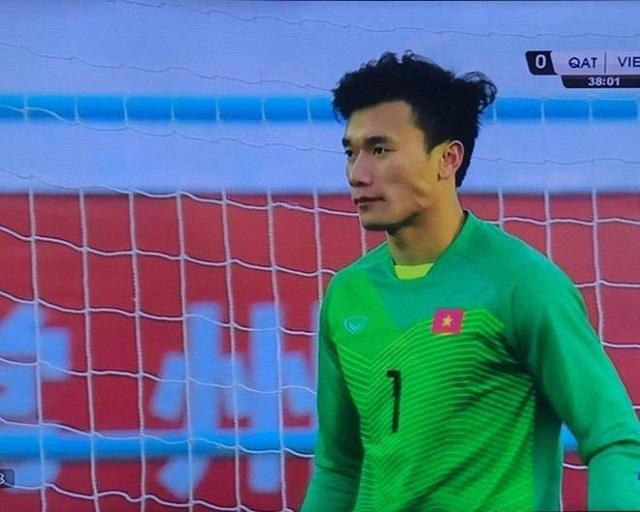 Bùi Tiến Dũng, một trong 23 cầu thủ góp mặt trong trận đấu vòng loại cuối cùng bảng C Asian Cup năm 2019 tại Jordan.