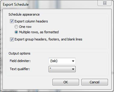 BIMformation: Exporting Schedules to Excel