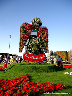 eagle at Dubai Miracle Garden