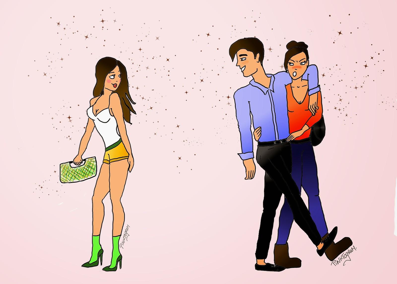 Le coureur de jupons explications pinktogram - Image coureur humoristique ...