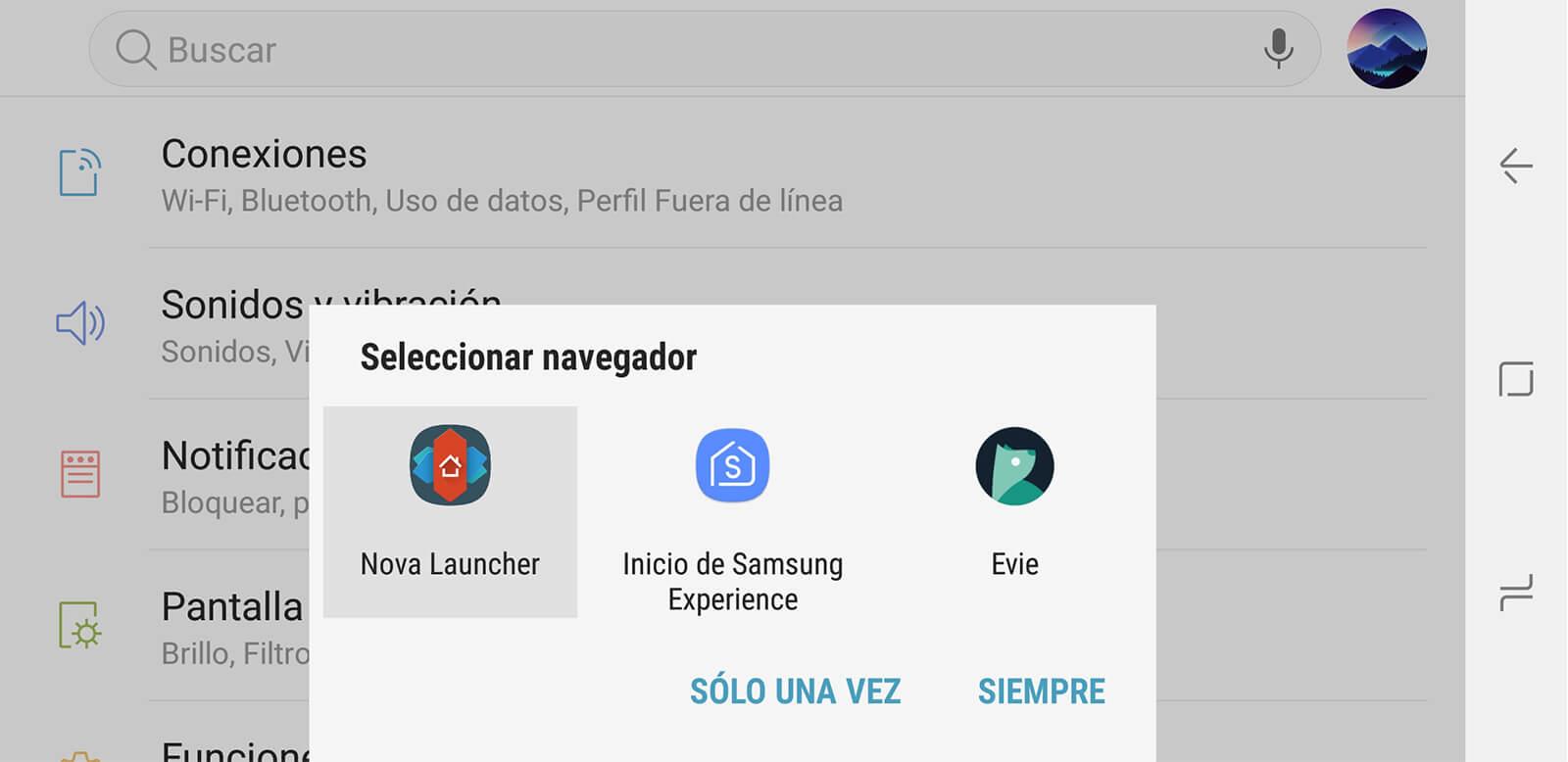 Personalizar pantalla de inicio Android