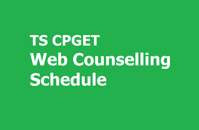 TS CPGET 2nd Phase Web Counselling Schedule for Web Options Entry, Certificates Verification Dates 2019
