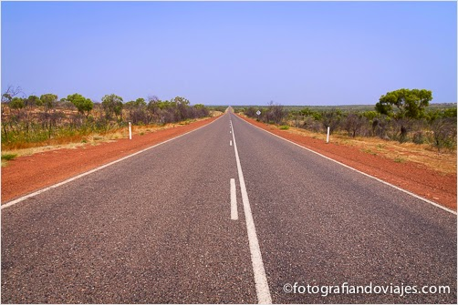 carretera del outback australiano