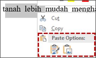 Klik kanan pada mouse dan pilih paste.