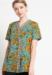 Contoh Model Baju Batik Modern