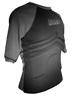 The Rib Rocket Short Sleeve Lycra/Neoprene Black/Gray, Side