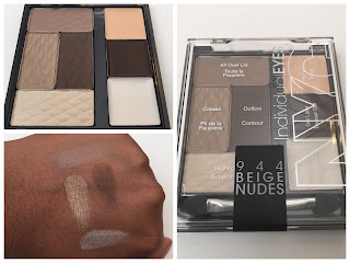 NYC Individual Eyes shadow palette 944 Beige Nudes swatched