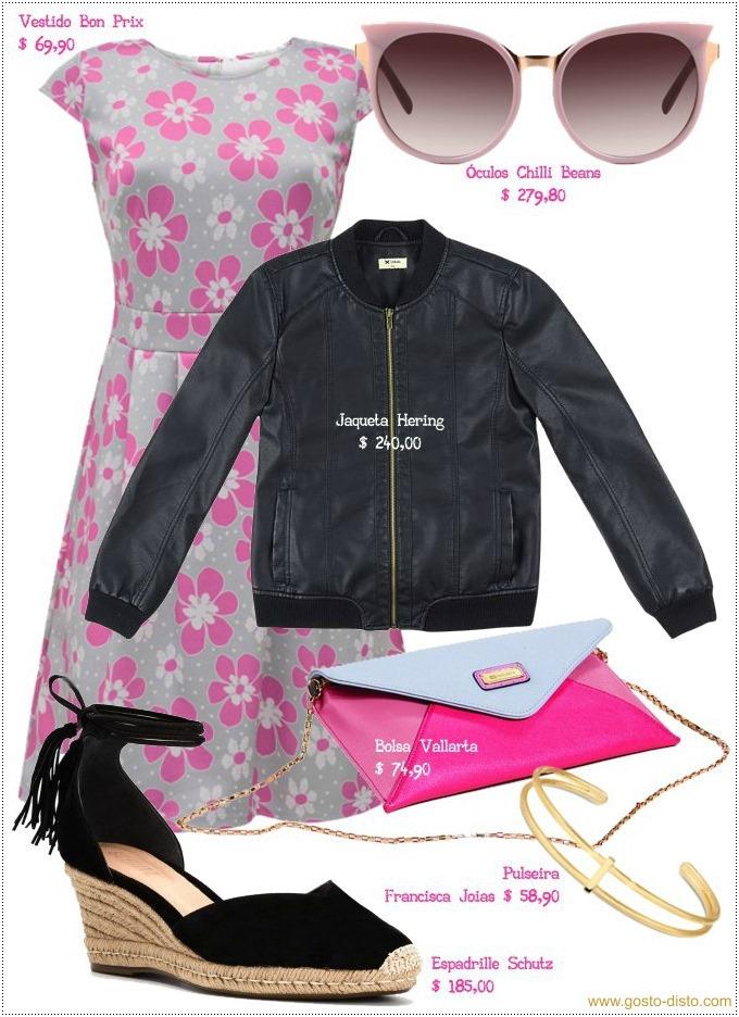 Como usar vestido com jaqueta de couro