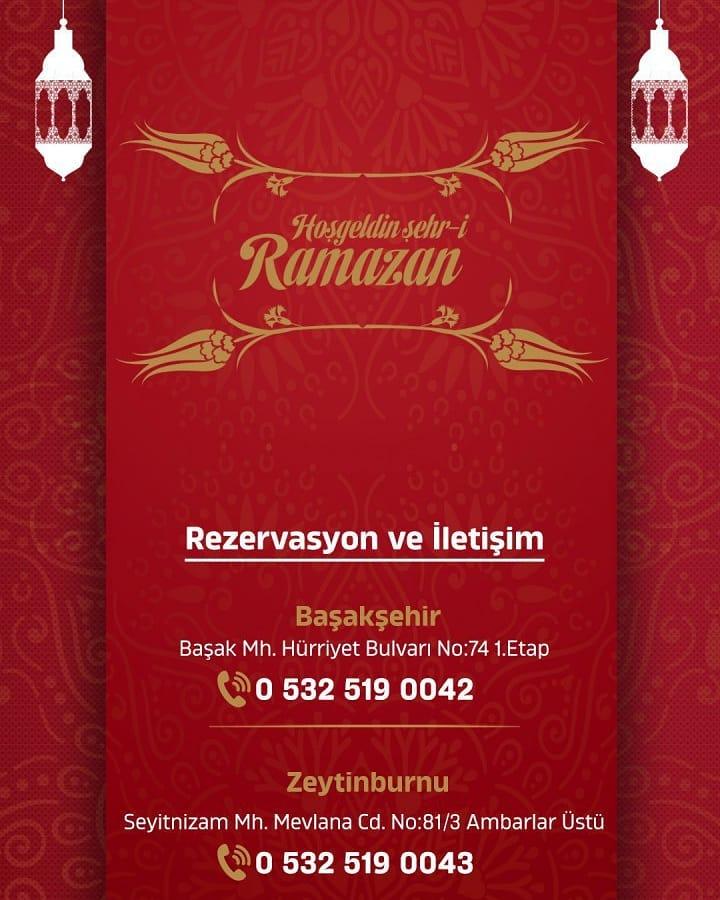 ciğerhane başakşehir iftar menüsü başakşehir iftar münüleri 2019 başakşehir iftar fiyatları