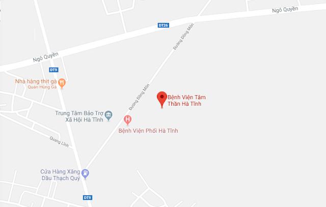 1. Bệnh viện Tâm thần Hà Tĩnh ở đâu?