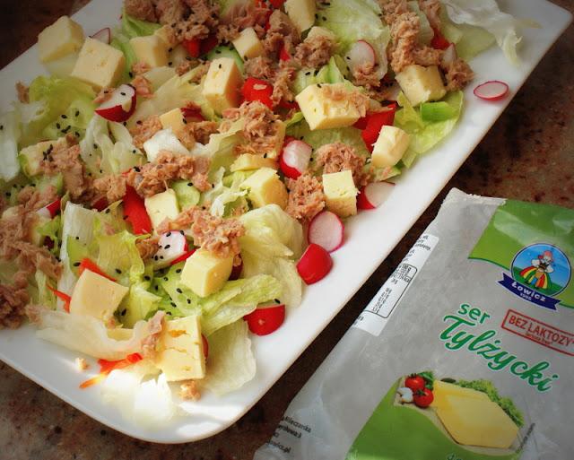łowicz,ser tylżycki,sałatka, tuńczyk,salata,rzodkiewka,ogórek,bazylia,dymka,bez laktozy,nietolerancja laktozy,