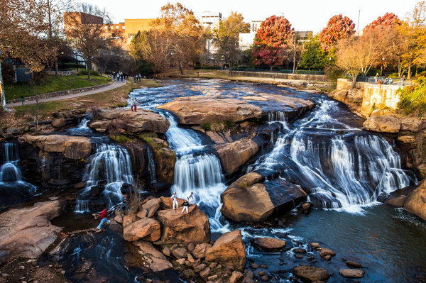 Falls Park in Greenville County South Carolina