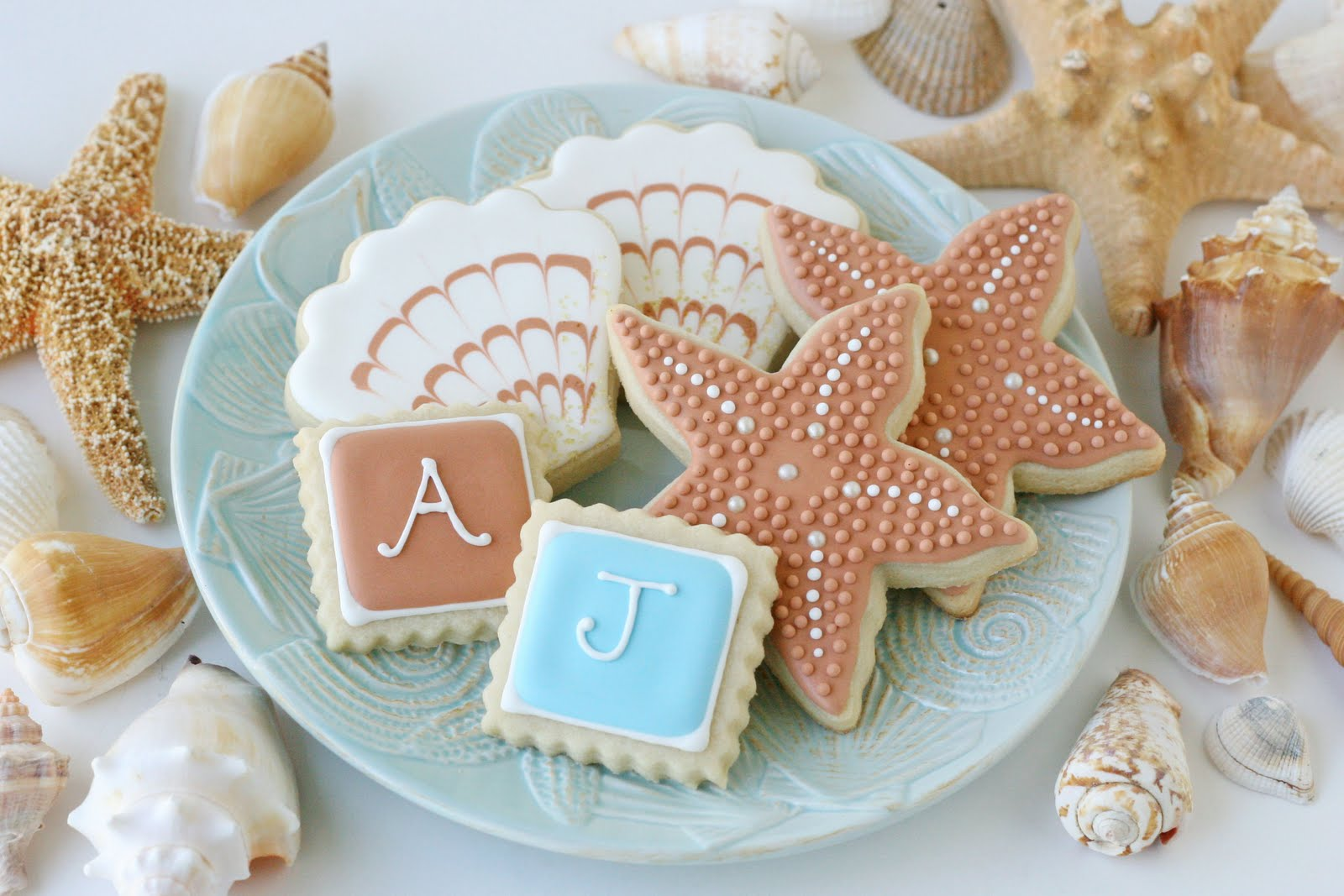 Beach Wedding Cookies