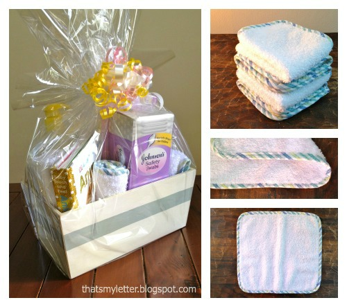 diy baby washcloths gift basket