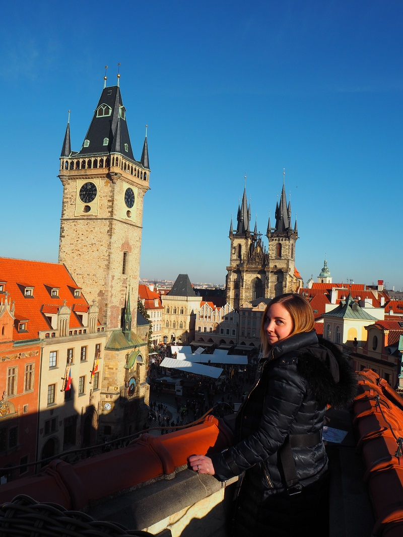 U Prince hotel rooftop bar Prague