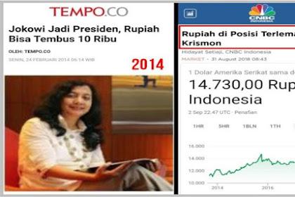 Ternyata Ini Ekonom yang Bilang Kalau Jokowi Presiden Rupiah Rp 10 Ribu/Dolar