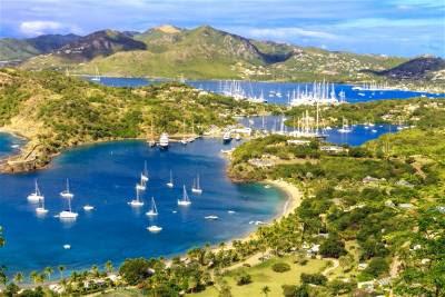 isla antigua en el caribe