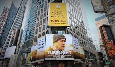 tubelight,tubelight movie,tubelight hindi movie,salman khan,salman khan movie,hindi movie,bollywood movie,tubelight poster on new york,times square poster,tubelight released date,tubelight review,movies,movie,entertainment,bollywood movies 2017,techlightnews,tech news,information technology,indian news