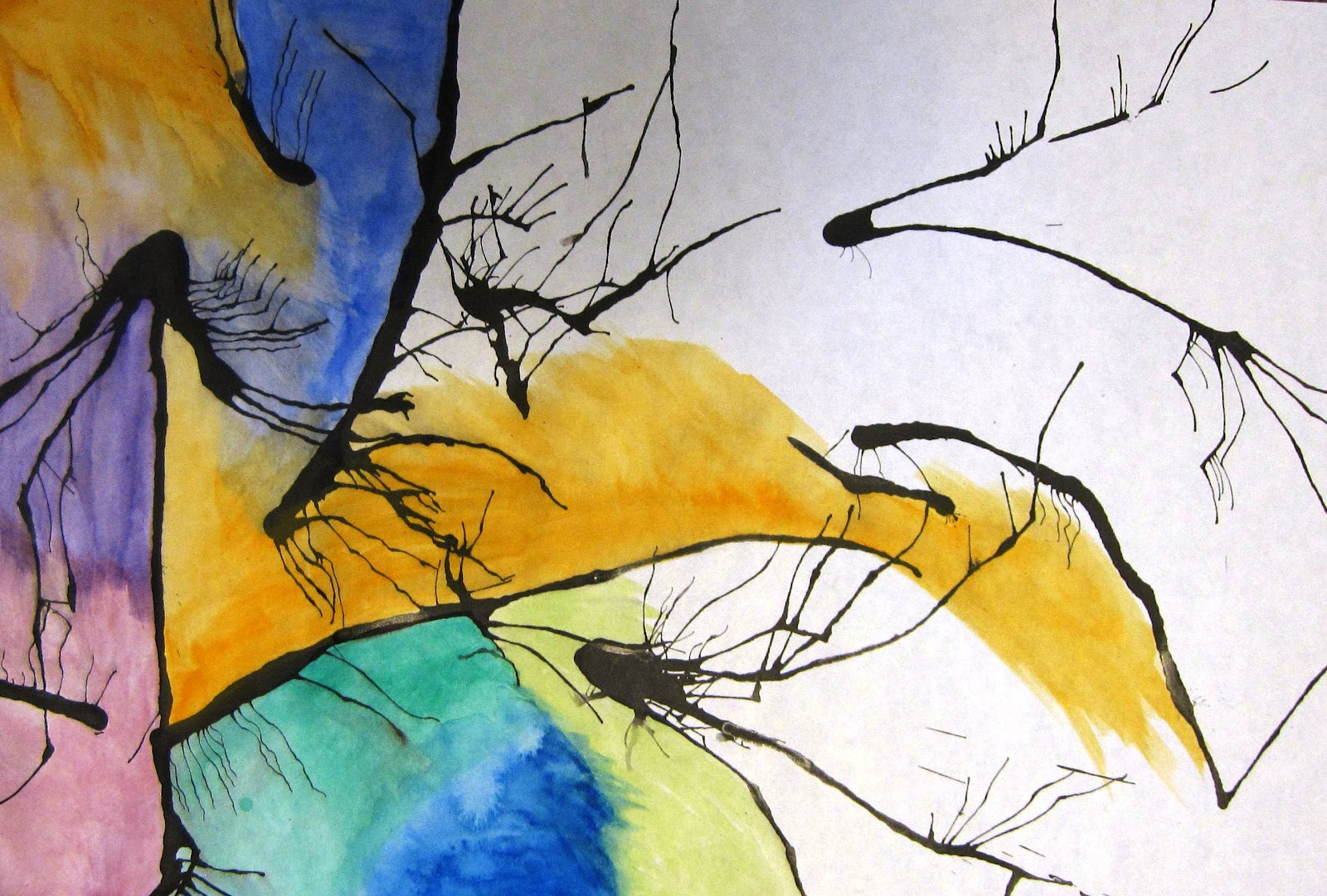 The creative spirit abstract watercolor painting lesson for How to paint abstract with watercolors