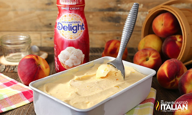 http://theslowroasteditalian-printablerecipe.blogspot.com/2016/07/no-churn-2-ingredient-peaches-cream-ice.html