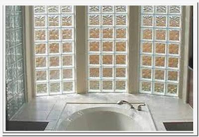 Installing glass block windows bathroom
