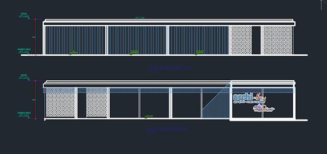Home studio in AutoCAD