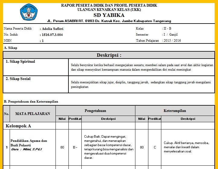 Image Result For Download Permendikbud Penilaian A