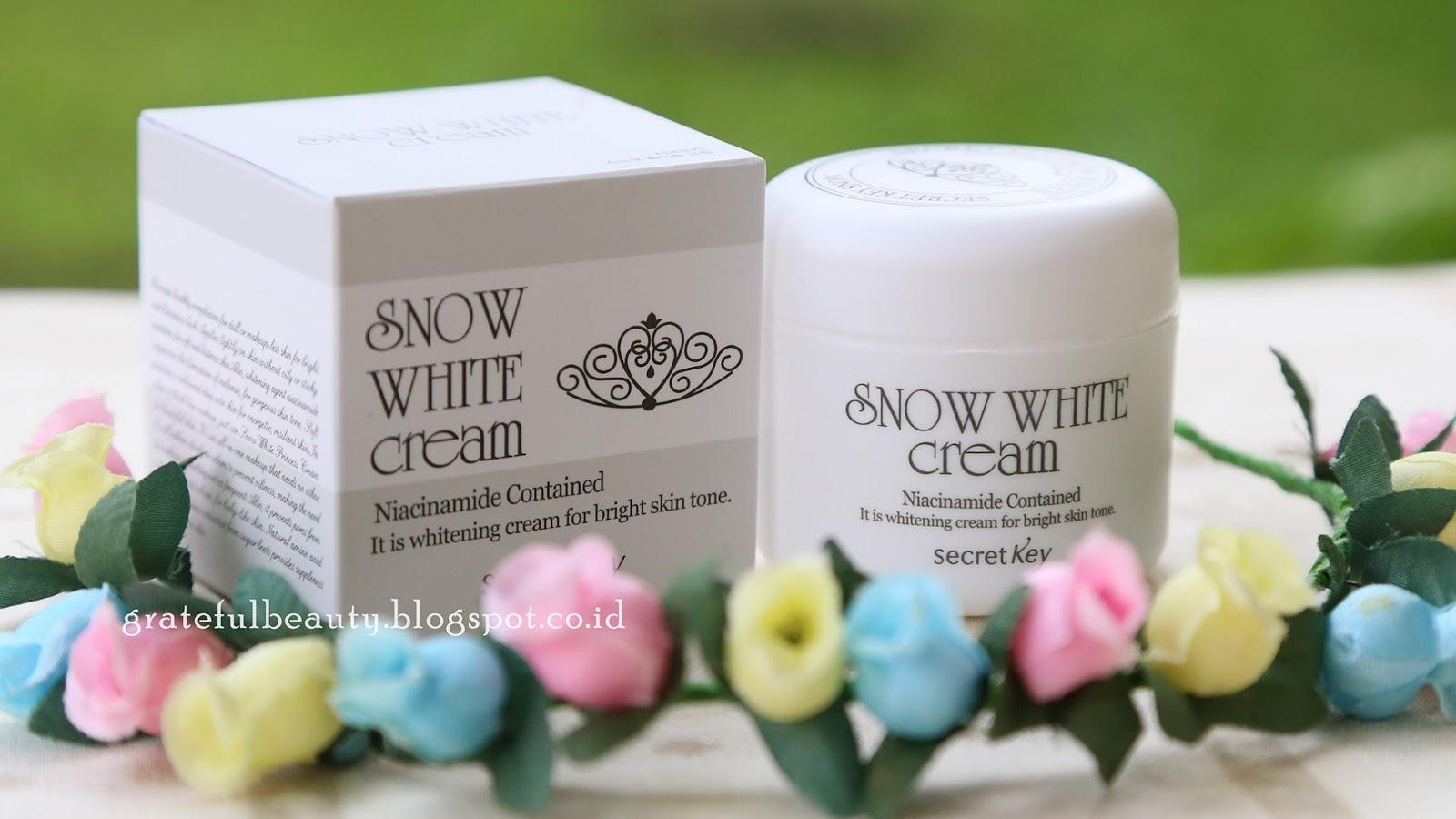 Skincare Review Secret Key Snow White Cream Kornelia Luciana Mengandung Niacinamide Yang Katanya Salah Satu Kandungan Cukup Ampuh Untuk Membuat Kulit Jadi Putih Mencerahkan Wajah