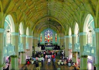 INNER VIEW OF CHURCH GLASS MEDAK