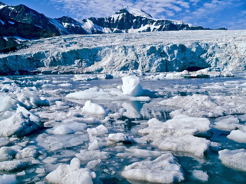 Harrietbreen, frente glaciar, Islas Svalbard
