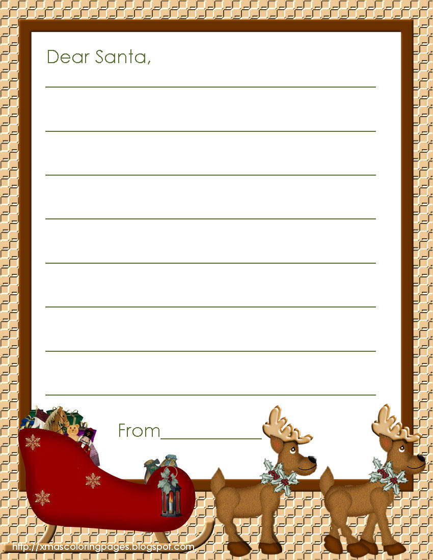 {FREE} Letters to Santa | The Preschool Version