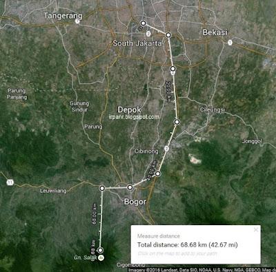 Rute dari Jakarta ke Kawah Ratu
