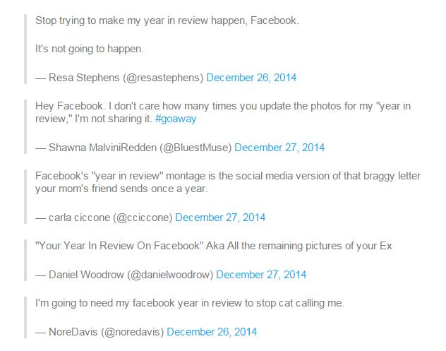 Facebook meminta maaf setelah tayangan 'Year in Review' nya membuka kembali kenangan buruk bagi beberapa penggunanya