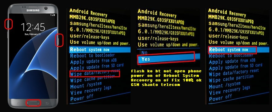 samsung s7 edge auto recovery system problem fix file 100%TESTED