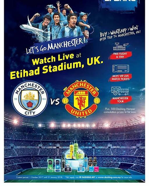 Beli Produk Dashing dan Menang Tiket Bola VIP Manchester, UK