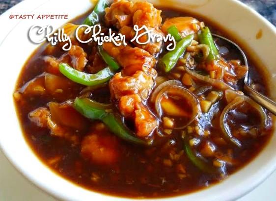 Spicy chilly chicken gravy recipe restaurant style chilly chicken method forumfinder Gallery